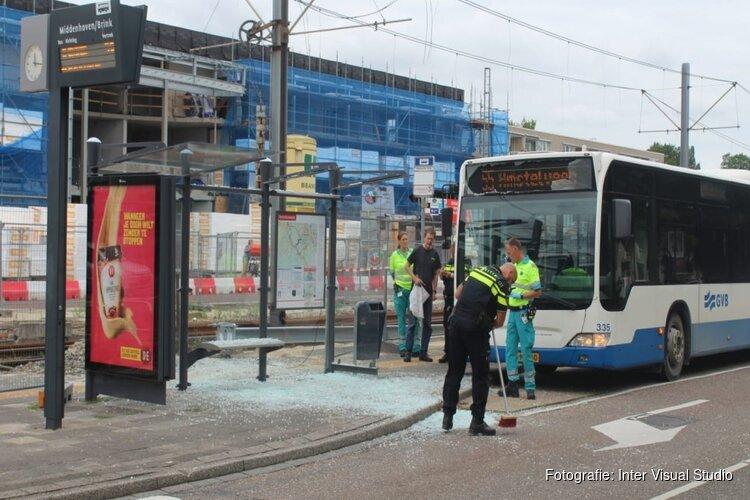 Passagier GVB onder het glas bij ongeluk in Amstelveen