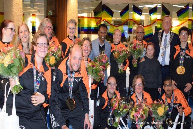 Nederlands team Special Needs Taekwondo gehuldigd in Amstelveen