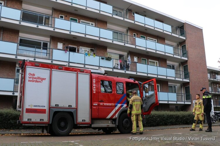 Gewonde bij brand in flat Amstelveen