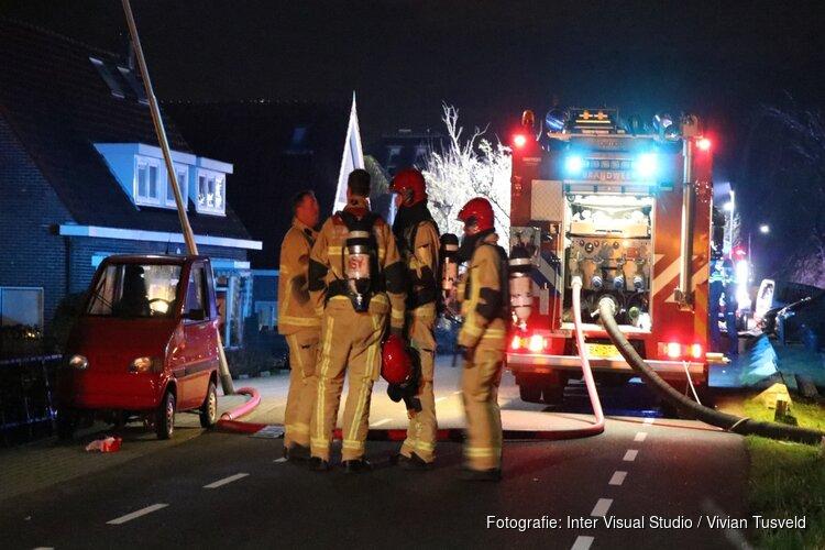 Schuur in brand aan Holendrechterweg
