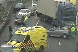 A9 helemaal dicht door ongeluk met meerdere voertuigen bij Haarlem-Zuid