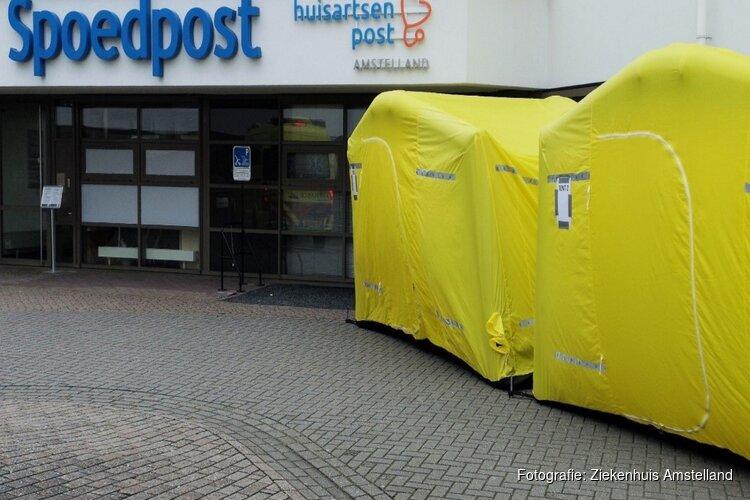 Ziekenhuis Amstelland vraagt bezoekers buiten naar gezondheid