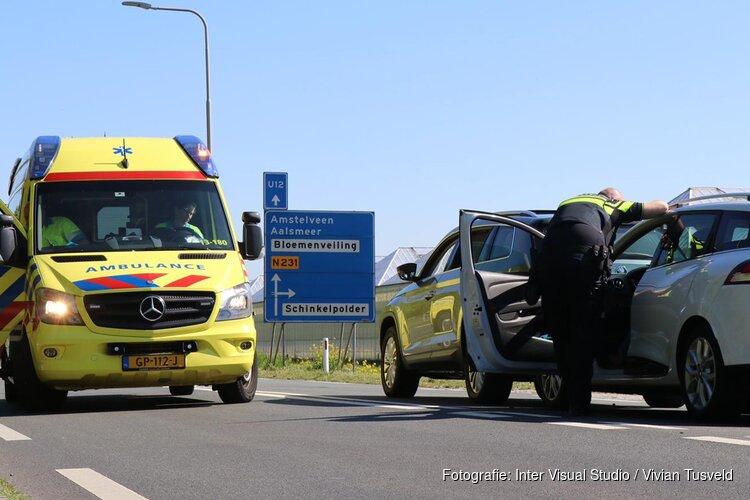 Drie auto's botsten in Amstelveen