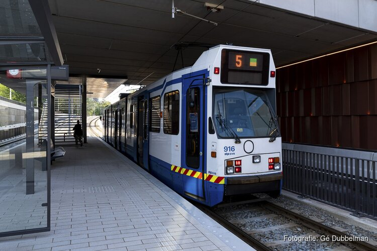 Tram 5 rijdt in het weekend van 25 juli 2020 niet
