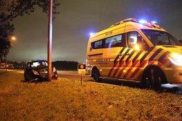 Auto tegen lantaarnpaal in Amstelveen